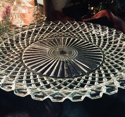 """Platter ~ Stunning Glass Eloquent ~ 14"""" / If You Love To Entertain!"""