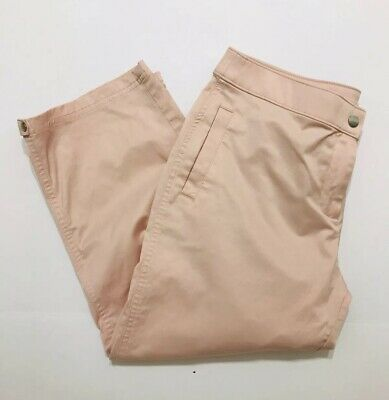 Zenergy By Chicos Women's cargo cropped pants light pink stretch Size 2