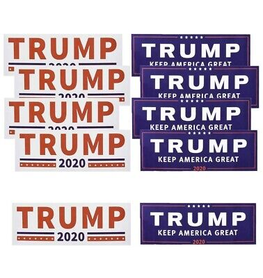 LOT OF 10x Trump Decal Sticker Keep America Great 2020 Election MAGA