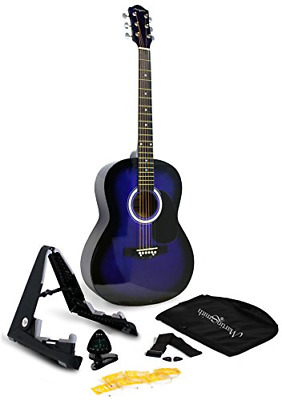 Martin Smith 6 Acoustic SuperKit Stand, Tuner, Bag, Strap, Picks, and Guitar