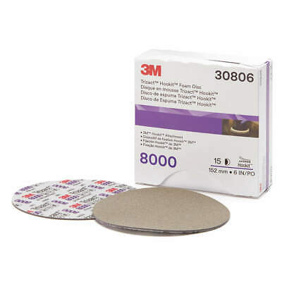 "3M Polishing Pad,Foam,6"" Size,PK15, 30806"