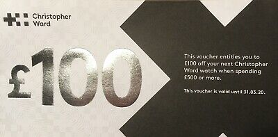 Christopher Ward £100 Off Voucher (£500+ Purchase Of non Sale Item)