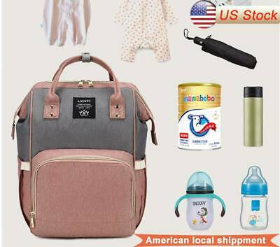 Baby Nappy Diaper Bag Mummy Maternity Stroller Travel USB Large Backpack