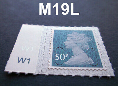 2019 50p M19L Machin SINGLE WITH CYLINDER TAB from Counter Sheet