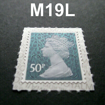 2019 50p M19L Machin SINGLE STAMP from Counter Sheet