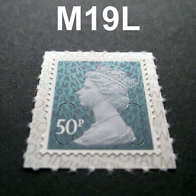 NEW 2019 50p M19L Machin SINGLE STAMP from Counter Sheet