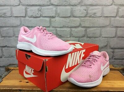 Nike  Uk 4 Eu 36.5 Revolution 3 Pink Trainers Girls Childrens Ladies Lg