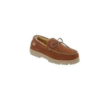 Rj's Fuzzies Mens Sheepskin Leather Moccasins Chestnut, 8 Free Shipping New