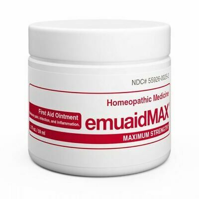 Emuaid (Red) Max Homeopathic Ointment Natural Remedy for 120 Skin Disorders, 2oz