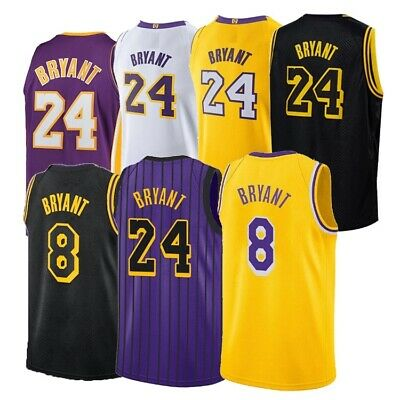 Kobe Bryant Basketball #8 #24 Jersey Lakers Nba Angeles All Colors S-2xl