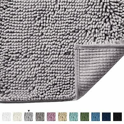 3 Piece Mixed Shiny Chenille Bath Mats Set Made with super soft Microfiber Wine