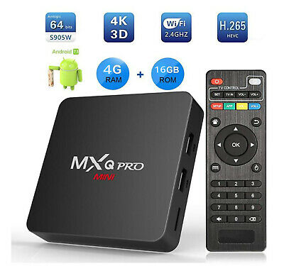 Android tv box  MXQ PRO 4K 4GB 32gb Android 9 Smart tv  2.4g WiFi  Multimédia