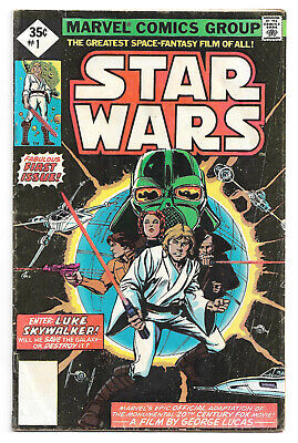 Star Wars # 1 Marvel Comics 1977 Howard Chaykin art / No UPC code, Diamond price