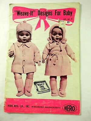 Weave it Designs for Baby Vol No. 9 Hero Mfg 14 outfit Instruction Book 1967
