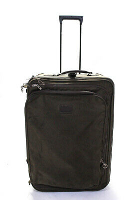"Andiamo Green Brown 24"" Zip Around Rolling Carry-On Suitcase"