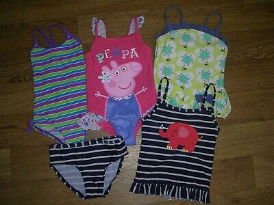 NEXT PEPPA PIG ZOGGS etc Girls Bundle Swimming Costume UV Swim Suit Age 2-3 98cm