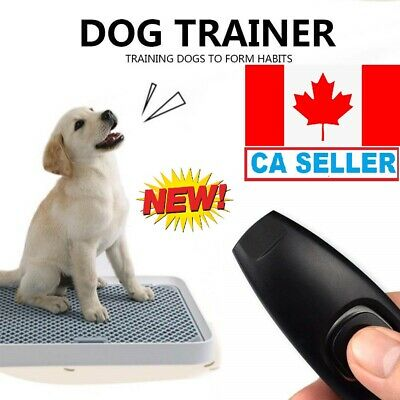Pet Dog Training Clicker & Whistle Training,Obedience, Puppy With Guide Black