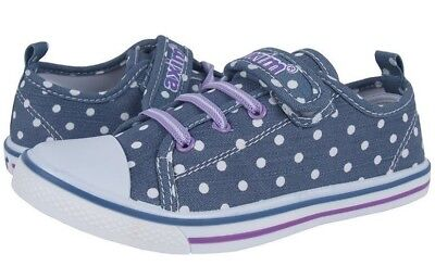 trainers size UK 8-12 NEW Canvas girls shoes GIRLS Real Leather Insoles