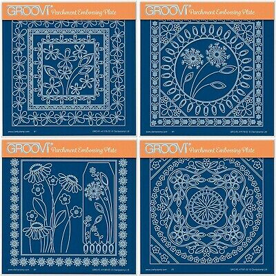 Clarity Stamps Groovi Parchment Embossing Tina's Frames - A5 - Free UK P&P
