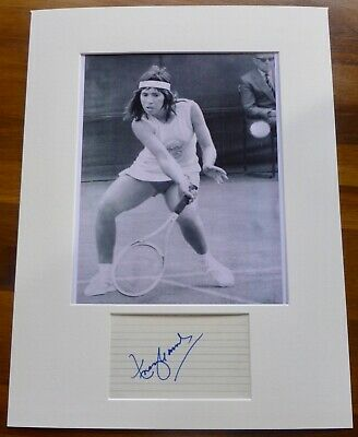 ROSIE CASALS-A Hand Signed Card,Presented With A Photo-Mounted & Matted,COA