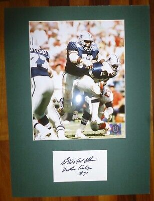 ED TOO TALL JONES-A Hand Signed Card,Presented With A Photo-Mounted & Matted,COA