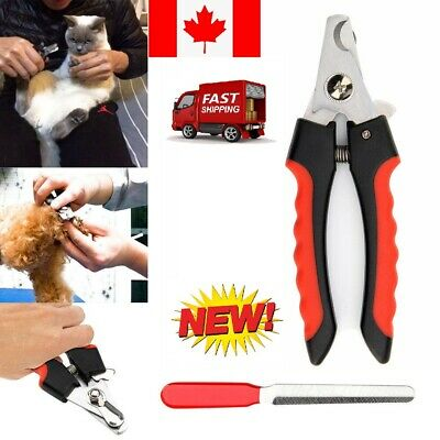 Pet Nail Dog Cat Claw Clippers Trimmer Scissors Grooming Cutters File L Sizes CA