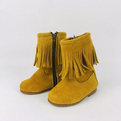 baby size 3 boots fringe southwest Apache genuine leather boys girls