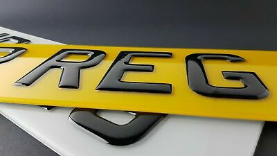Pair Of Road Legal Front & Rear 3D Gel Raised Domed Gloss Black Number Plates