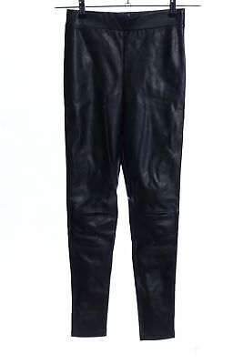 H&M DIVIDED Leggings schwarz Glanz-Optik Damen Gr. DE 34 Hose Trousers