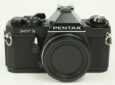 Pentax MV1 35mm SLR Film Camera Black Body from Japan [Very Good]