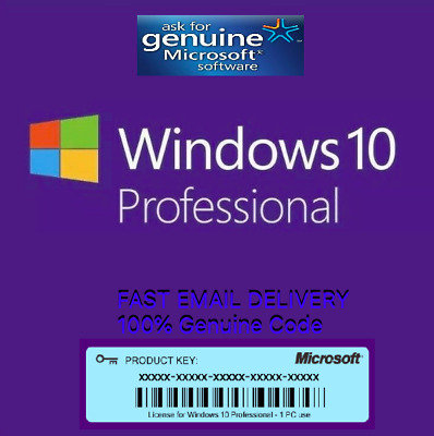 Microsoft Windows 10 Pro🔥32/64bit ⭐ Genuine License Key 🔑 [🚚Fast Delivery🚚]