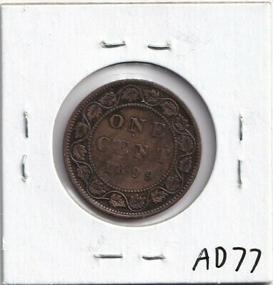 1899 Canadian Large Cent Very Fine-20 Copper Victoria!