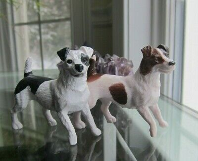 Lot of 2 Breyer Companion Animal Jack Russell Terriers Dogs Figurine Model