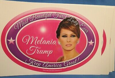WHOLESALE LOT OF 10 MELANIA TRUMP FOR FIRST LADY STICKERS PHOTO PRESIDENT 2020