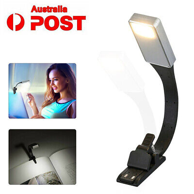 Flexible Adjustable Clip On Book Reading Light Lamp USB Rechargeable Night Lamps