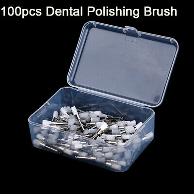 100 Pcs Dental Prophy Tooth Polish Polishing Cup Brush Latch Type Dentist