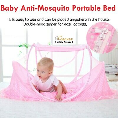 Portable Folding Infant Newborn Baby Travel Anti-Mosquito Cradle Bed Crib Tent