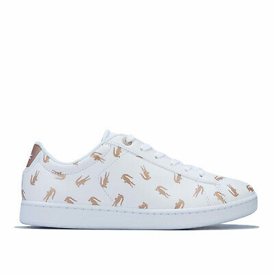 Lacoste Baskets Carnaby Evo Blanc Doré Fille