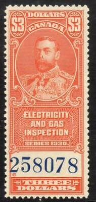 Canada ~ Electric & Gas Inspection $3 ~ Sissons R208 ~ Mint Never Hinged ~ MNH