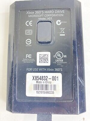 Official Microsoft XBOX 360 250 GB HDD Hard Drive OEM Authentic Genuine 1451 (b)
