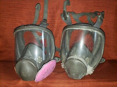 LOT OF 2 WORKING  3M 6899B 6898 Respirator Masks SET OF 2  ⚡YOU GET TWO MASKS⚡