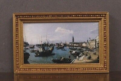 FRAMED - PICTURE  ~ Dollhouse Miniature ~ Seascape ~ 1:12 scale ~ Room Box
