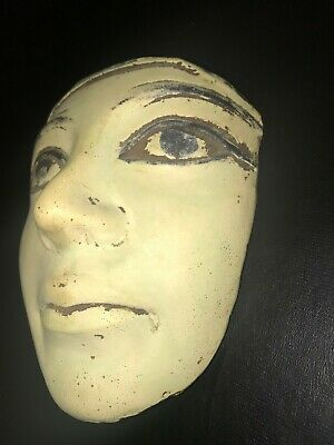 Rare ancient egyptian antique stone mask can be hang on the wall 1550-1069 bc
