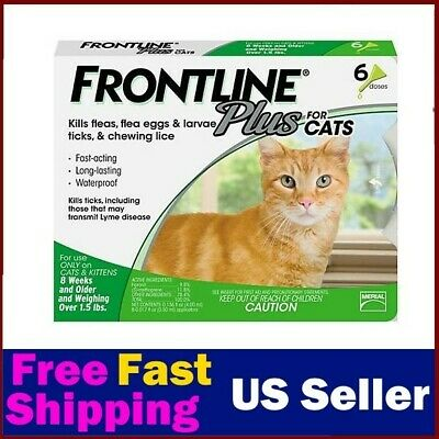 Frontline Plus Flea and Tick Treatment for Cats /6 treatments