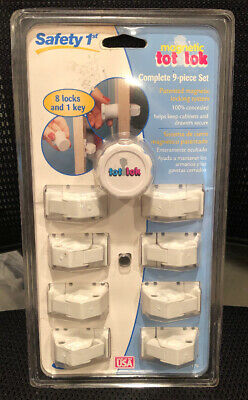 Safety 1st (9 Piece) Magnetic Cabinet Locks for Baby Proofing NEW
