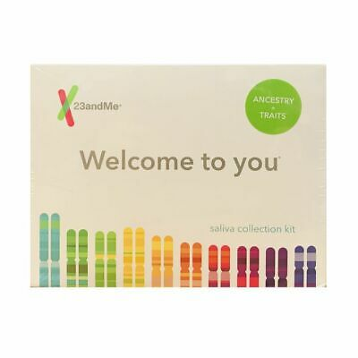 New 23Andme Ancestry + Traits Saliva Dna Collection Kit Exp 09/2021 Free S&H