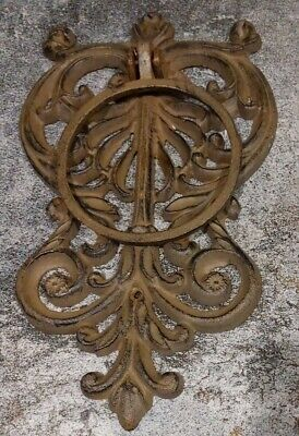 "Cast Iron Vintage heavy metal gothic 11"" - 12"" Door Knocker"
