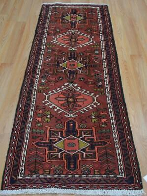 2'3 x 6'5 Geometric Karaja Hand Knotted Wool Runner Nomad Rug Caucasian Carpet
