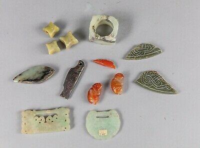 Large set of Chinese antique jade collection