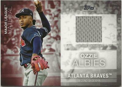 2020 Topps Series 1 OZZIE ALBIES Major League Material Relic Braves Jersey Gray